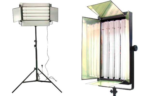 Luz continua e Iluminación fotográfica con luces fluorescentes
