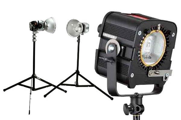 Lámparas de luz continua incandescente para estudios fotográficos