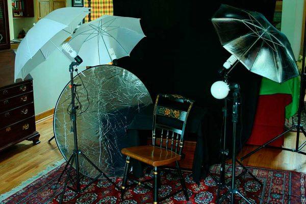 equipo, material y accesorios para iluminacion en fotografia